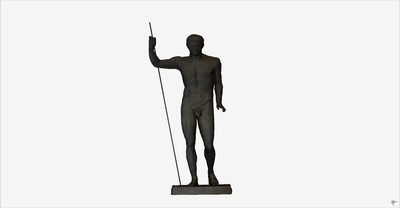 3D model of statue of heroic Claudio