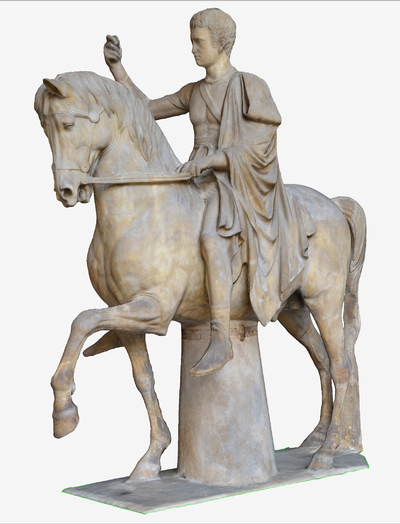 3D model of statue of the Son of Marco Nonio Balbo