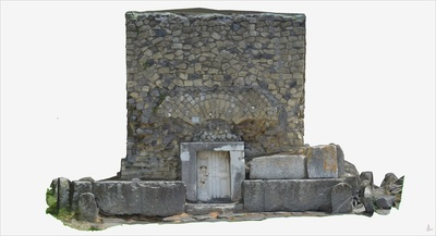 3D model of Tomb with marble gate (Pompeii Porta Ercolano)