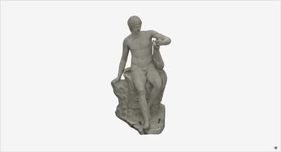 Images of 3D model of statue of Apollo Citaredo