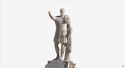Images of 3D model of Marco Nonio Balbo at Herculaneum