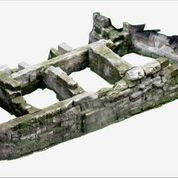 Images of 3D model of Greek Walls of Naples (Mura di Piazza Bellini) without modern structures