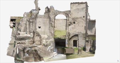Images of 3D model of Roman Buildings at Naples (Carminiello ai Mannesi)