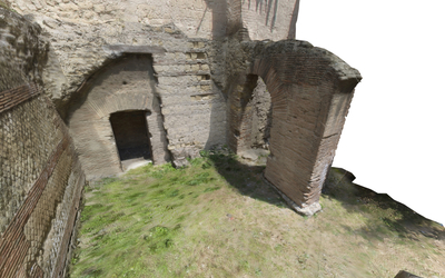 Images of 3D model of Mithraeum at Naples (Carminiello ai Mannesi)