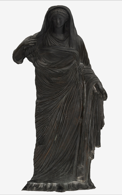 Images of 3D model of statue of Agrippina Minore