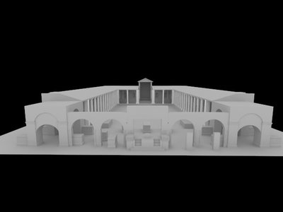 Images of 3D model of Augusteum at Herculaneum