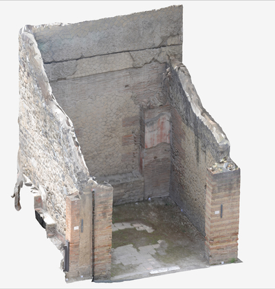 Images of 3D model of Sacello at Herculaneum