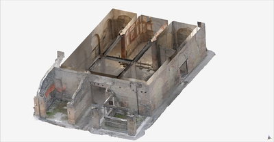 3D model of Collegio degli Augustali at Herculaneum