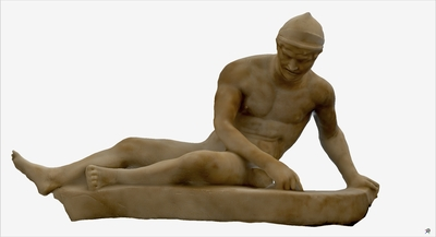 Images of 3D model of statue of wounded Galata