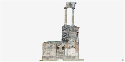 Images of 3D model of Tomb of Gens Istacidia (Pompeii Porta Ercolano)