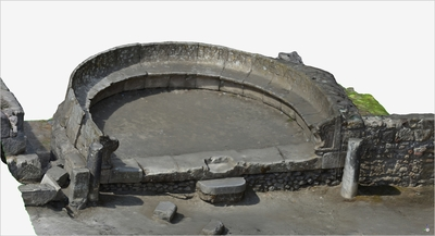 Images of 3D model of Tomb of Mamia (Pompeii Porta Ercolano)