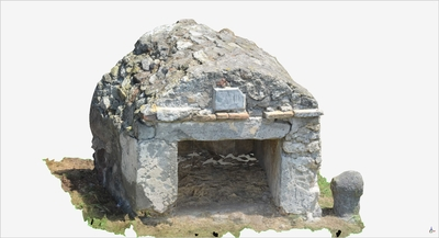 Images of 3D model of Tomb of Salvius (Pompeii Porta Ercolano)