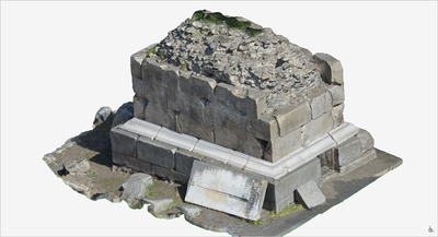 Images of 3D model of Tomb with funerary urns (Pompeii Porta Ercolano)