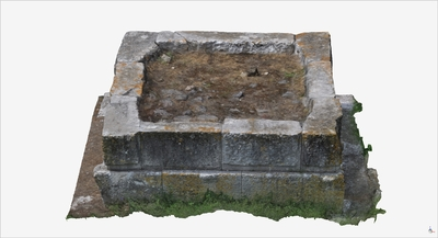 Images of 3D model of Tomb with rectangular plan (Pompeii Porta Ercolano)