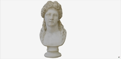 Images of 3D model of bust of River God