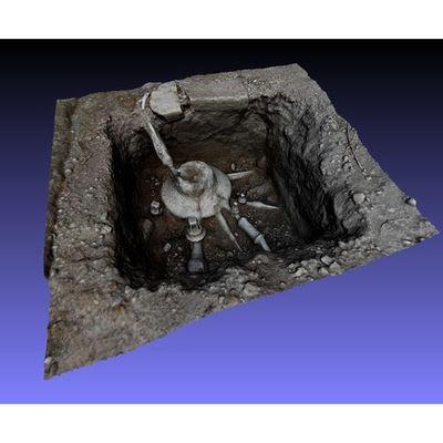 Insula V 1 - Plumbing detail 3D model
