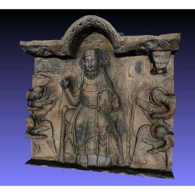 Portalada de Ripoll - detail of Christ area 3D model