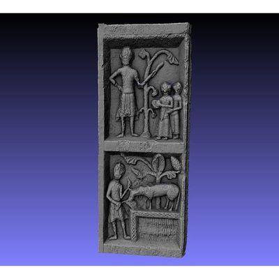 Portalada de Ripoll - detail of Panels area 3D model