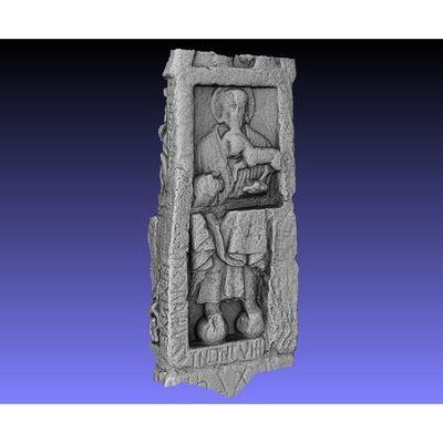 Ruthwell Cross - Detail back panel 3D model