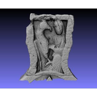 Ruthwell Cross - Detail front top panel 3D model