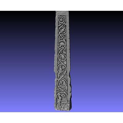 Ruthwell Cross - Detail left-side Runes 3D model