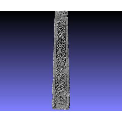 Ruthwell Cross - Detail right-side Runes 3D model