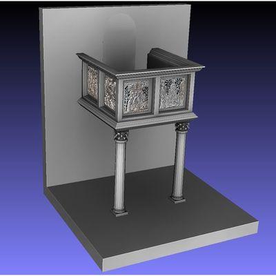 San Leonardo in Arcetri - Formelle all - Colored 3D model