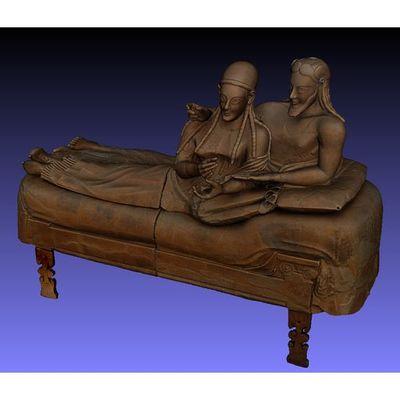 Sarcofago degli Sposi - Colored 3D model