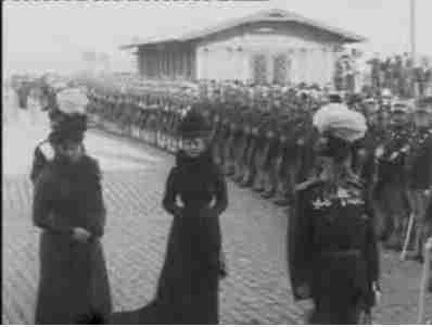 Czar Nikolai II's Ankomst til Helsingør