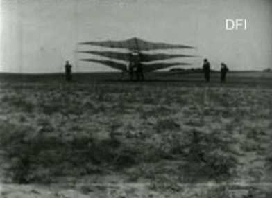 Ellehammers første Forsøg med Aeroplan