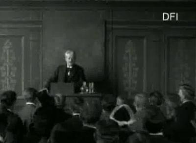 Professor Georg Brandes paa Universitetets Katheder