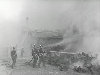 Branden paa Ballins Skotøjsfabrik