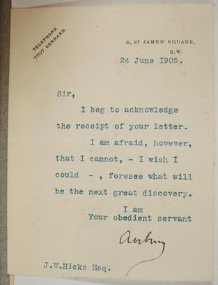 [Letter] 1905-06-24, London