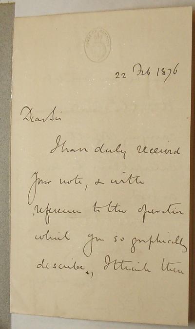 [Letter] 1876-02-22, London