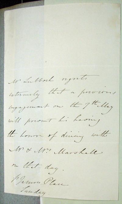 [Letter] 1802-1834?, London [to] John Marshall [to] John Marshall