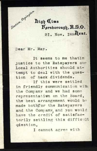 [Letter] 1895-11-21, Farnborough