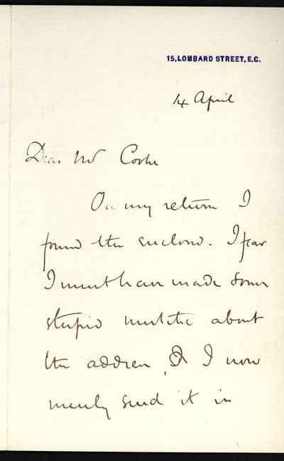 [Letter] 1850-1899