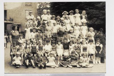 Montessori-kleuterschool, schooljaar 1954-1955, de leerlingen