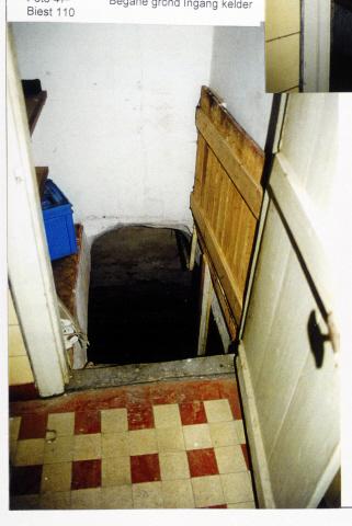 Pand Biest 110 interieur, begane grond, ingang kelder