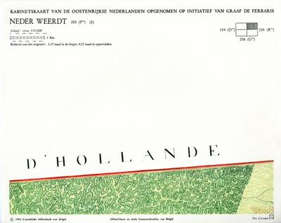 Kabinetskaart van de Oostenrijkse Nederlanden opgenomen op initiatief van Graaf De Ferraris: Neder Weerdt 205 (P17) (2)