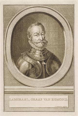 Lamoraal, Graaf van Egmond . - J. Houbraken, sculpsis.