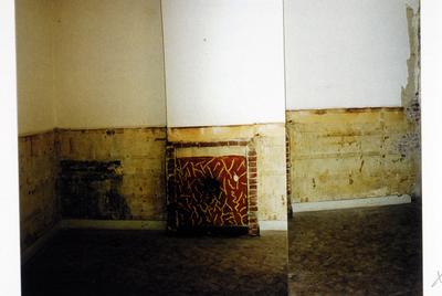 Pand Biest 110 interieur, begane grond, kantoor rechts voor, schouw