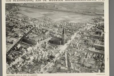 Luchtfoto uitgegeven Ter herinnering aan de Weerter Middenstandsactie 1948