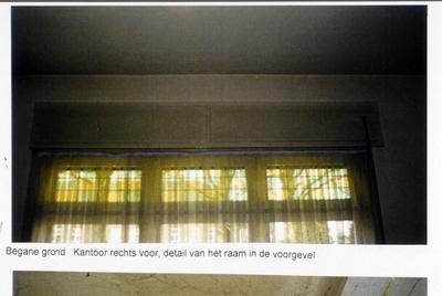 Pand Biest 110 interieur, begane grond, kantoor rechts voor, detail van het raam in de voorgevel