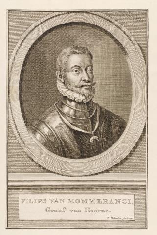 Philips van Mommeranci, Graaf van Hoorne . -  J. Houbraken, sculpsis.