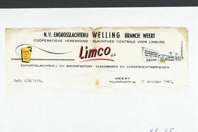Briefhoofd LIMCO, gedateerd 12 oktober 1960