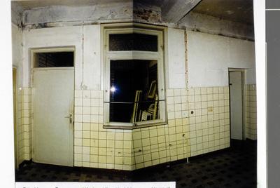 Pand Biest 110 interieur, begane grond, keuken kijkend in richting van achtergevel