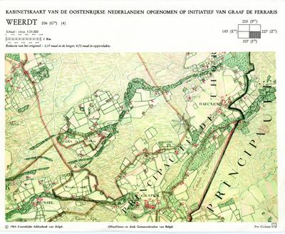 Kabinetskaart van de Oostenrijkse Nederlanden opgenomen op initiatief van Graaf De Ferraris: Weerdt 206 (G18) (4)