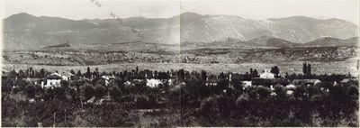 Panorama della Fronte della III.a Armata. Eseguito dall'Osservatorio della Marcorina (presso Canziano). 26 Luglio. 1916. 1. Veliki Kribach. 2. Faiti Krib. 3. Gobneck (q.ta 448).