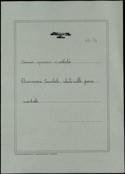 Brovarone Annibale, Portula (Novara)